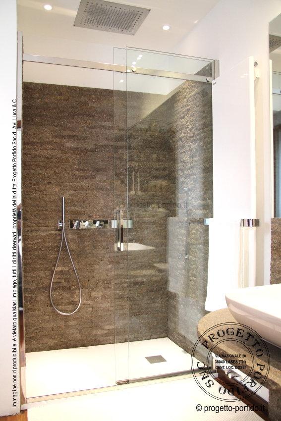 Rivestimento bagno 14 progetto porfido snc - Pannelli per rivestimento interno doccia ...
