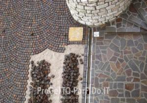rande cubetti porfido mosaico