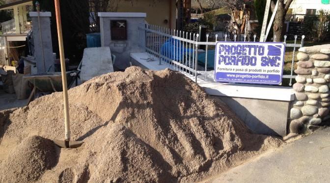 Come impastare sabbia e cemento