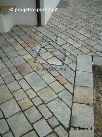 Foto piastrelle porfido piano cava colorato progetto - Posa piastrelle diagonale ...
