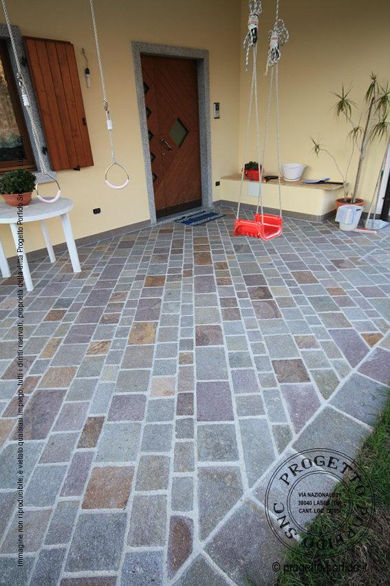 Piastrelle posa diagonale di porfido del trentino piano - Posa piastrelle 120x60 ...