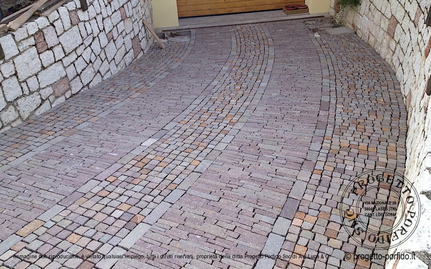 Foto smolleri di porfido pavimentazione di rampe garage for Software di piano di pavimento del garage