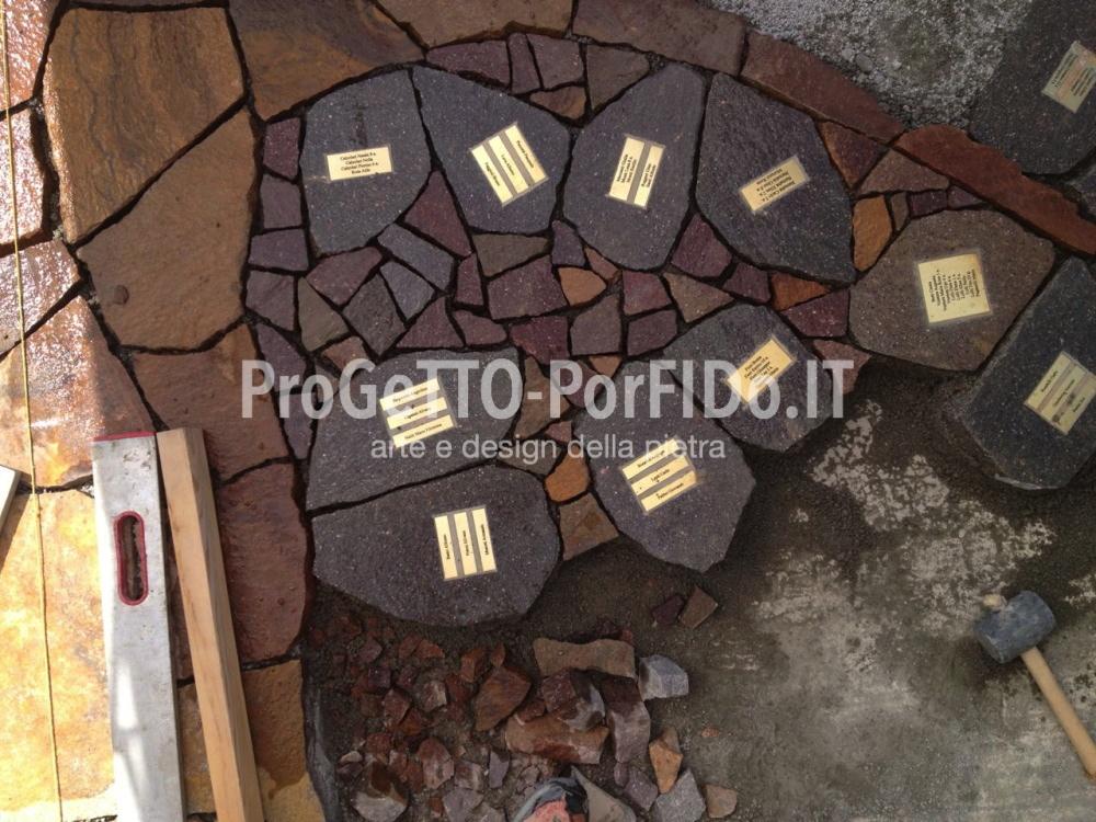 dettaglio foglie con targhe